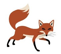 Fox clipart animal clipart scrapbook fox fox vector nursery image