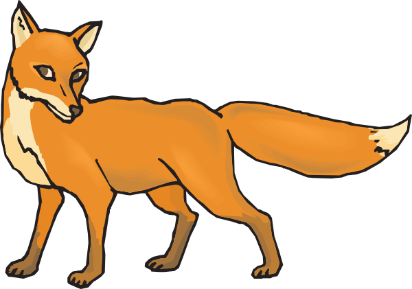 Fox clipart black and white free clipart images