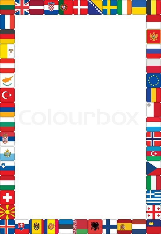 Frame made of European .