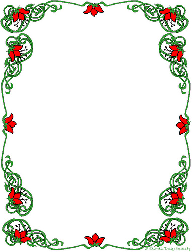 free christmas clipart borders printable