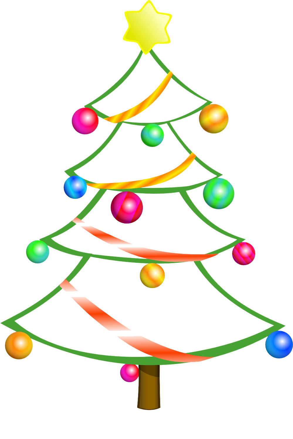Free Christmas Tree Clip Art Borders-free christmas tree clip art borders-12