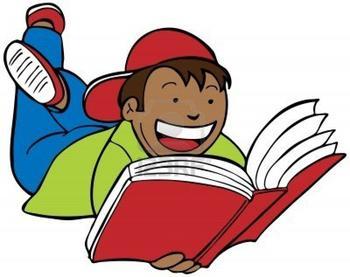 free clip art children readin - Reading Books Clipart