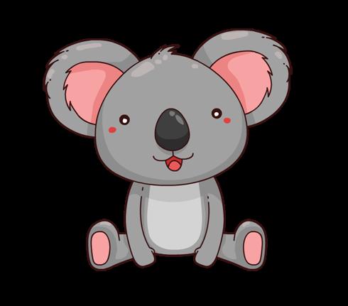 Free Adorable Cartoon Koala Clip Art u0026middot; koala10
