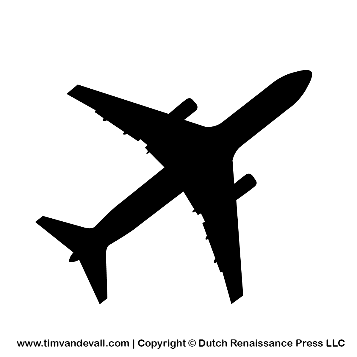 Free Airplane Silhouette Stencil And Out-Free Airplane Silhouette Stencil And Outline Clipart For Artists-11