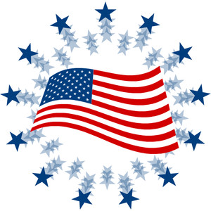 Us flag clip art united state