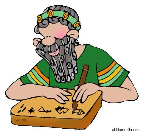Free Ancient Mesopotamia Clip Art by Phillip Martin, Scribe