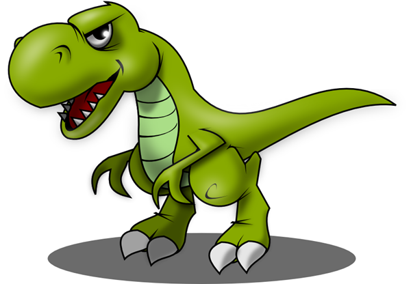 Free Angry T-Rex Clip Art