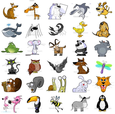 Free Animal Clip Art. Noisy Animals Quiet Animals .