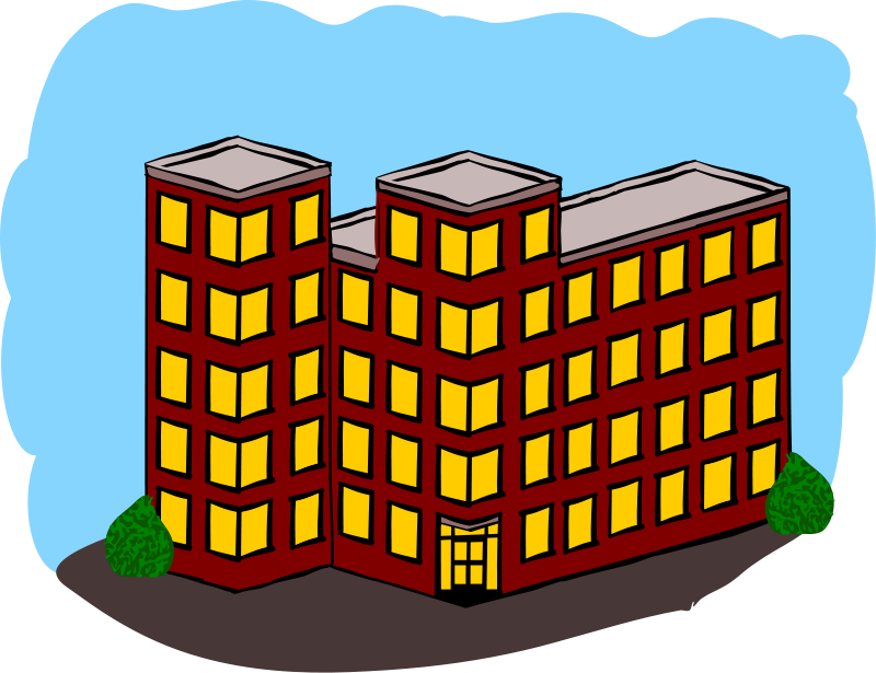 Free Apartment Building Clip Art-Free Apartment Building Clip Art-3