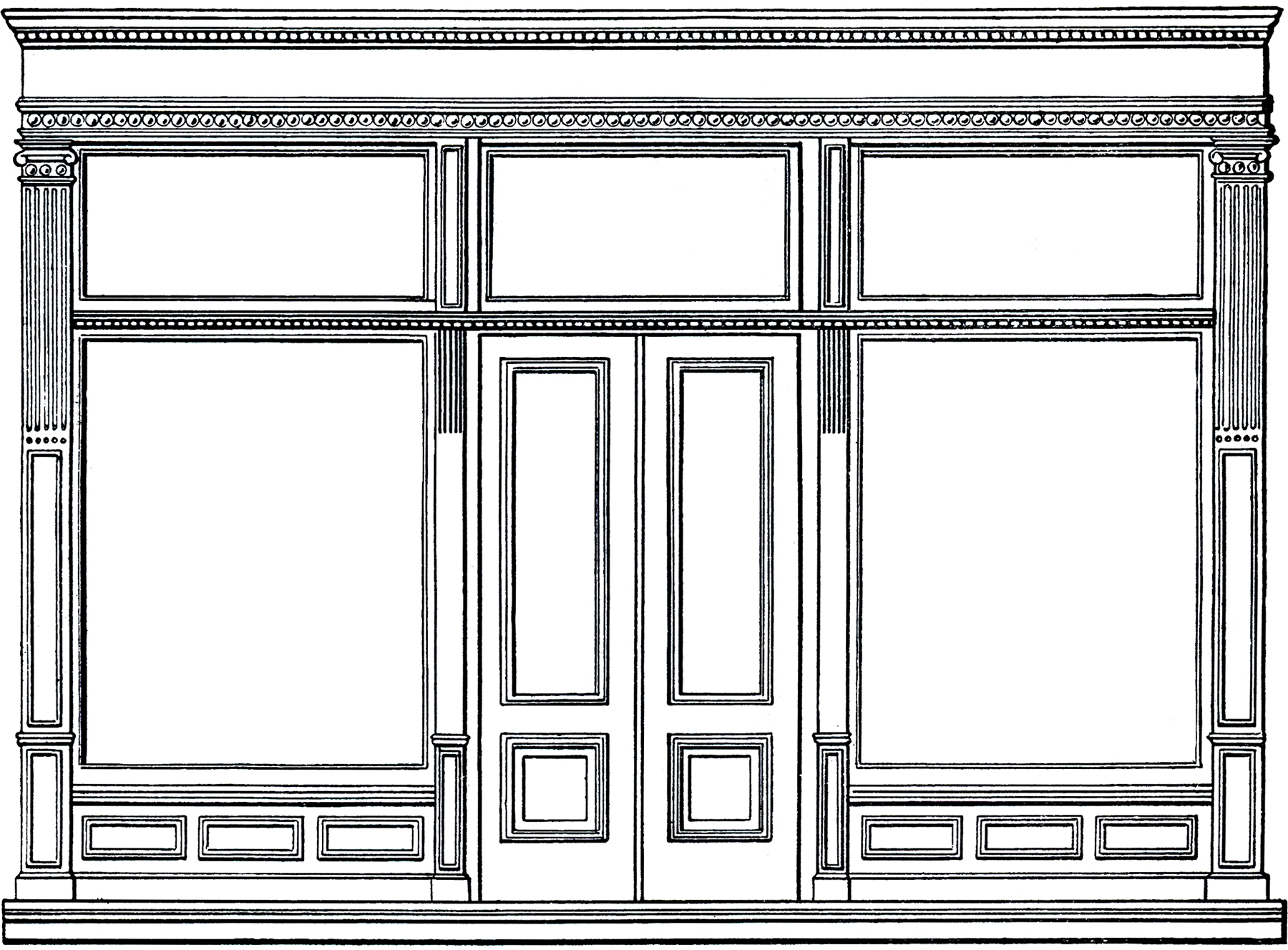 Free Architecture Clip Art Store Front