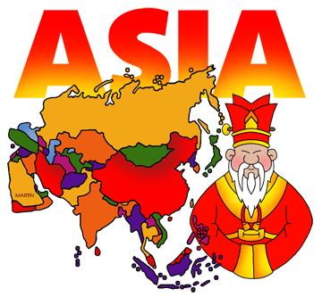 Free Asia Clip Art by Phillip .