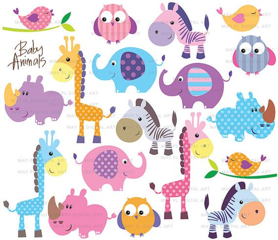 Free Baby Animal Clip Art | Cute Animal Clip Art Cute Little Baby Animals Clipart Birthday