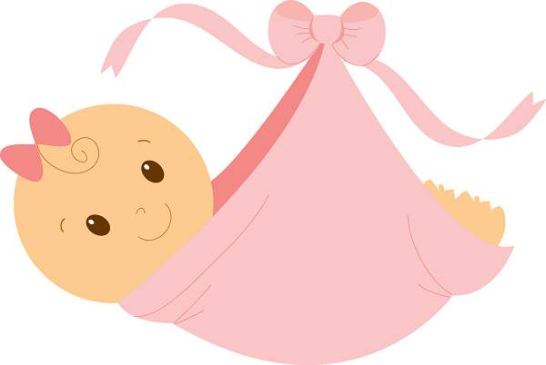 Free baby girl clipart
