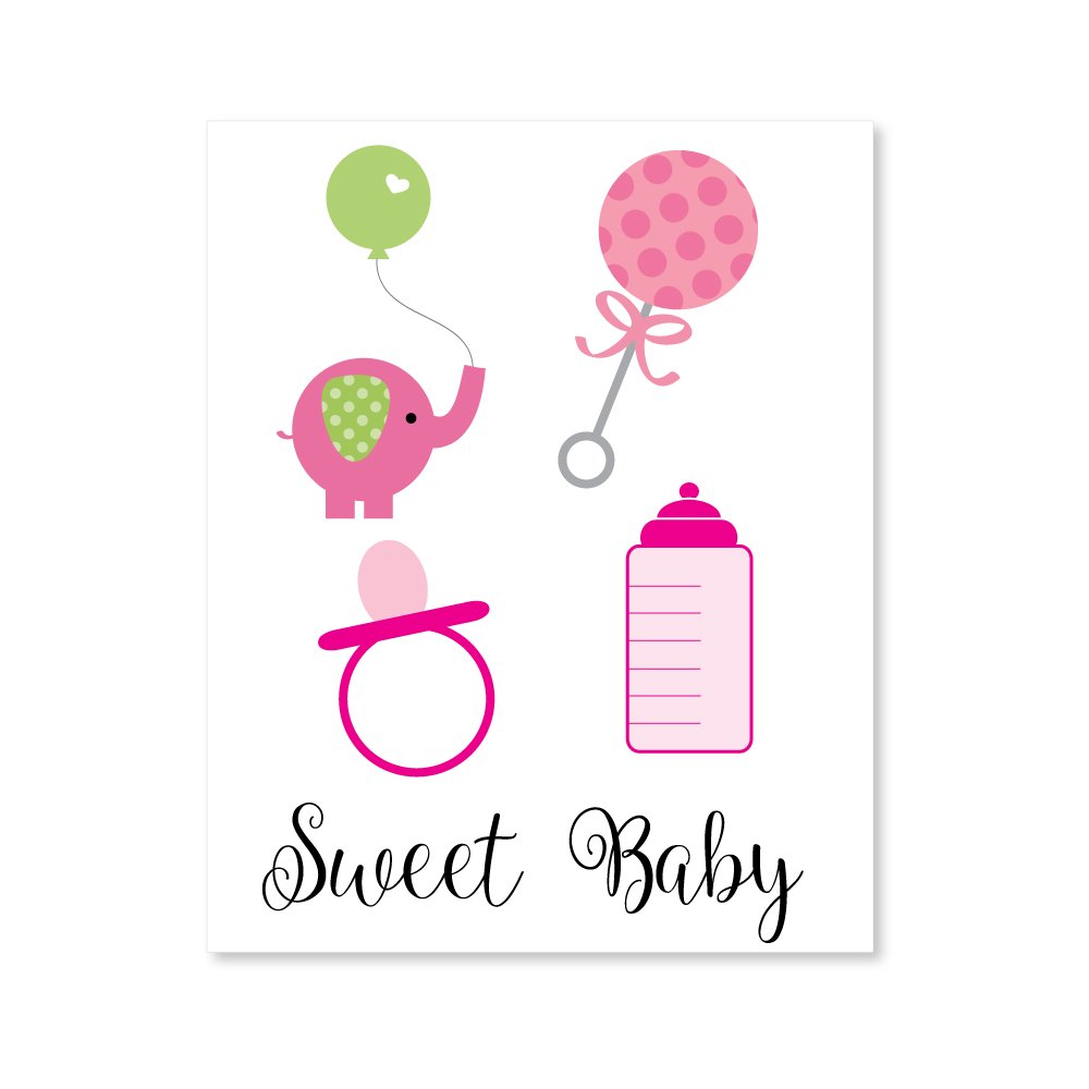 Free Baby Shower Clipart - Girl (5 crisp, transparent PNG files)