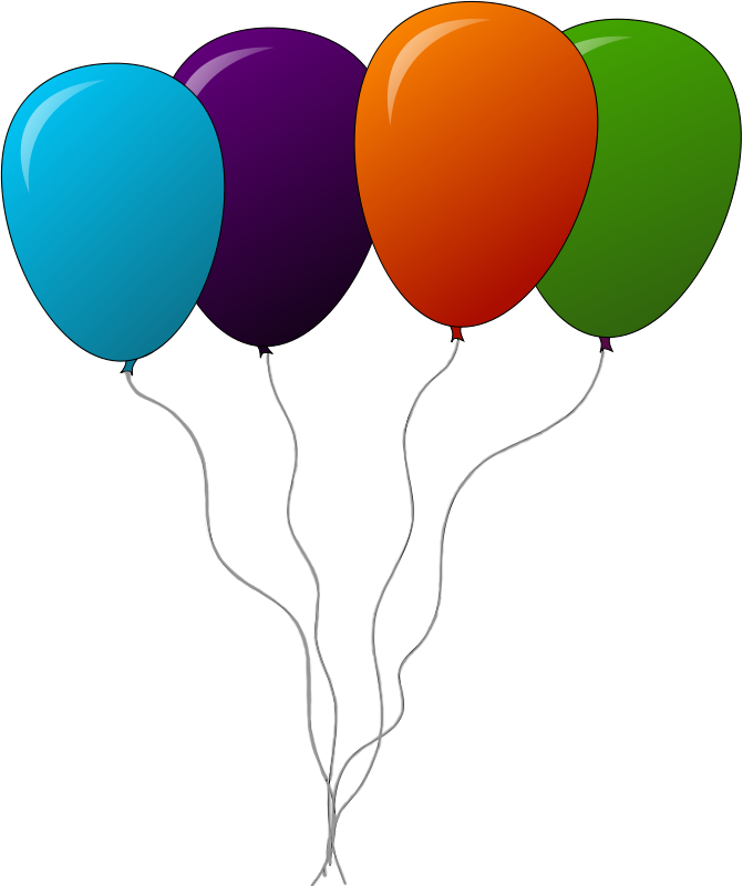 Free Balloons Clip Art - Clipart Of Balloons