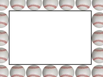Free Baseball Border Free Cli - Baseball Border Clipart