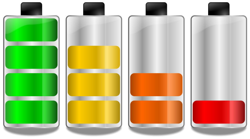 Free Battery Levels Clip Art - Batteries Clipart