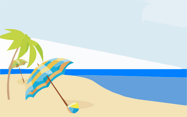 Free Beach Background Clipart - ClipartF-Free beach background clipart - ClipartFox-12