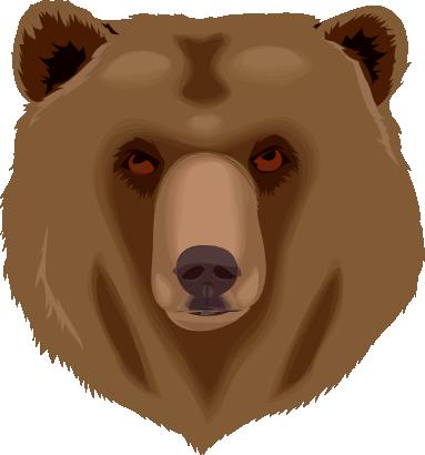 Free Bear Face Clip Art