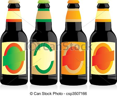 Free Beer Bottle Clipart. Vector - Vecto-Free Beer Bottle Clipart. Vector - vector illustration .-10