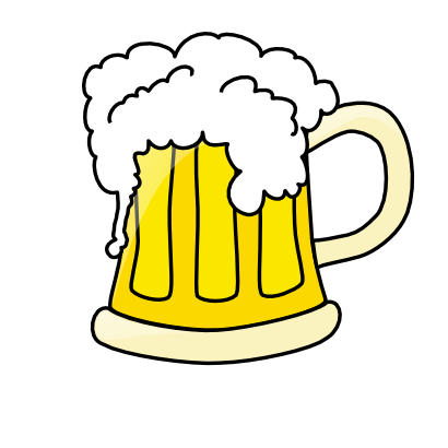 Free Beer Mug With Overflowing Beer Clip Art