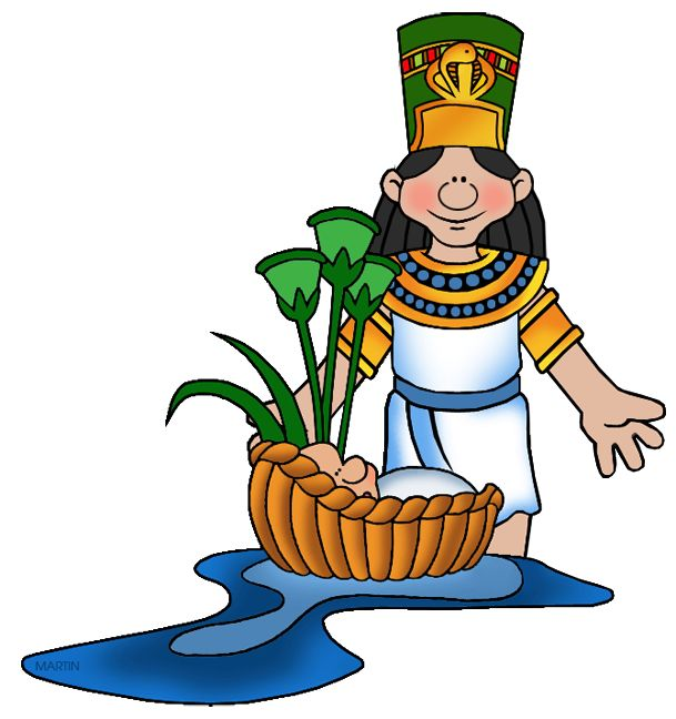 Free Bible Clip Art by Phillip Martin, Pharaohu0026#39;s Daughter with Moses
