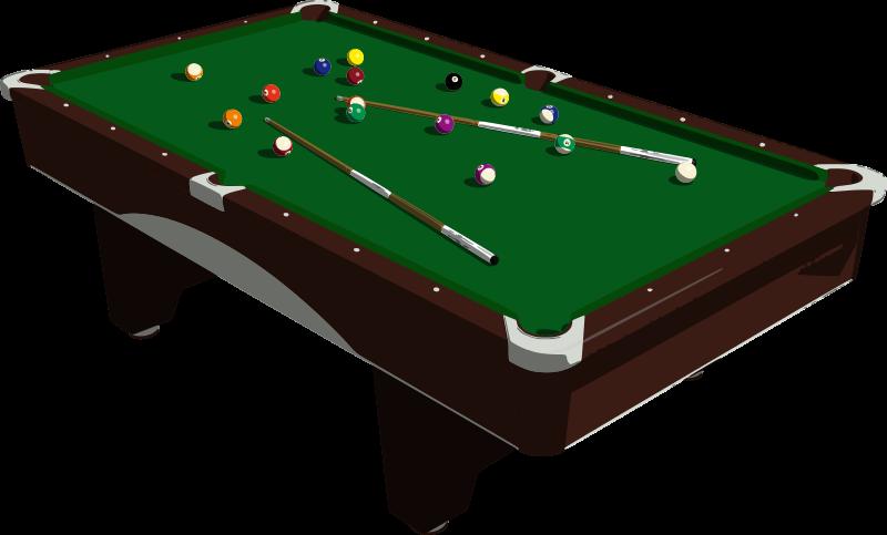 Free Billiard Table Clip Art