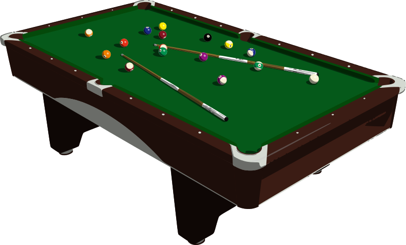 Free Billiard Table Clip Art