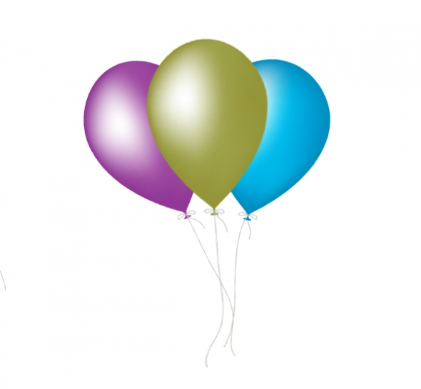 Free Birthday Balloons Clip Art - Clipart library
