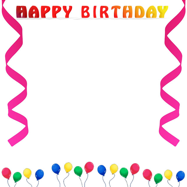 Free Birthday Borders Happy B - Birthday Border Clip Art