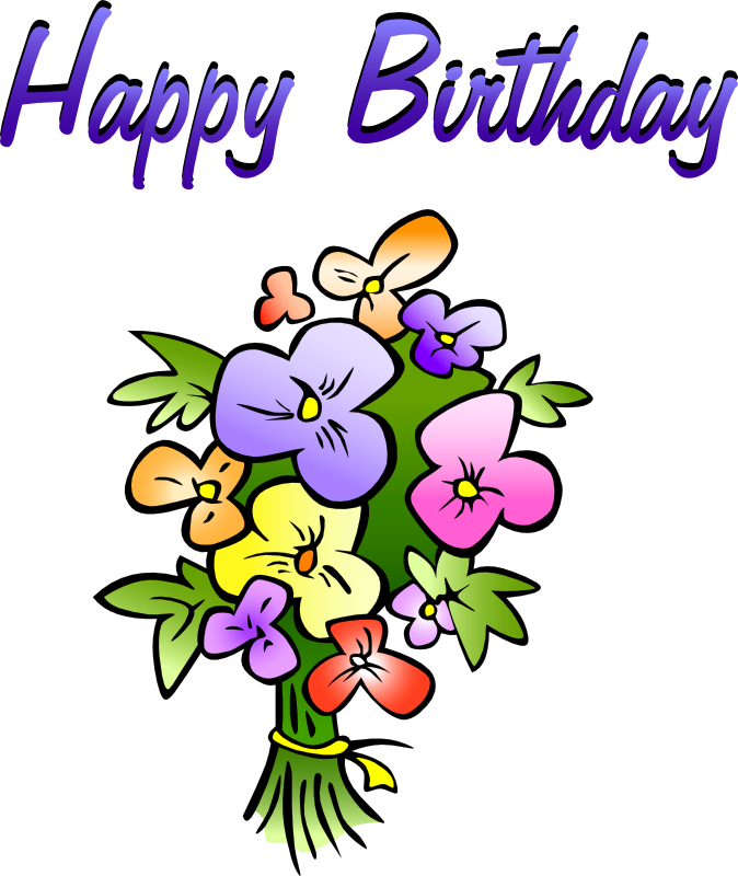 Free Birthday Greetings With Flowers Cli-Free Birthday Greetings With Flowers Clip Art-12