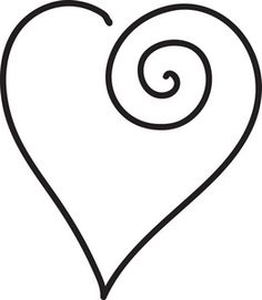 Free Black And White Clipart, Heart - ClipArt Best .