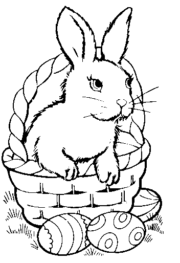 Free Black and White Easter Clipart