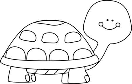 Free Black And White Sea Turtle Clipart