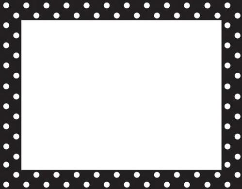 Free Black Polka Dot Border .