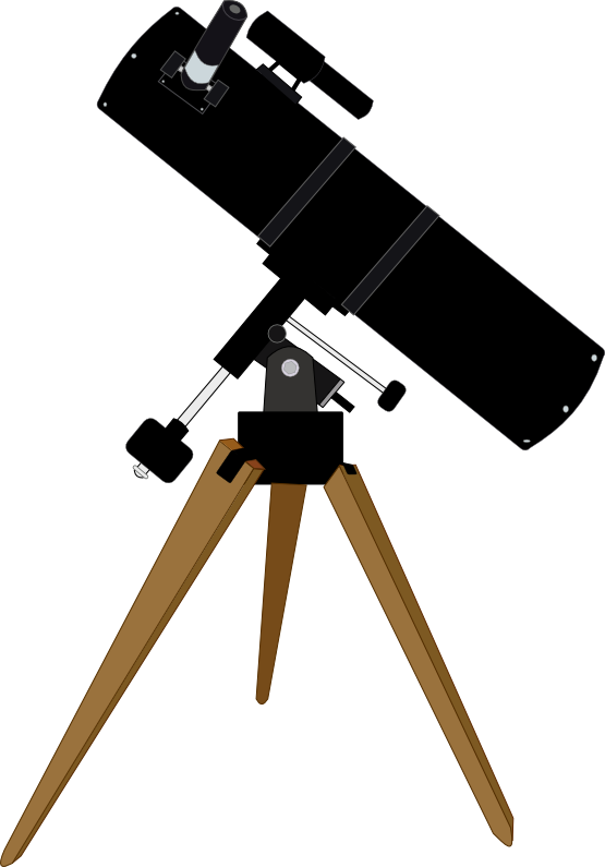Free Black Telescope Clip Art