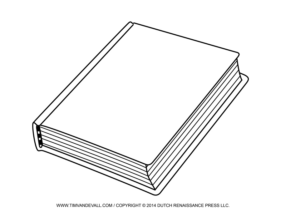 Free Blank Book Cover Templat - Books Clipart Black And White