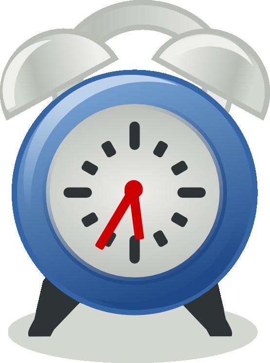 Free Blue Alarm Clock Clip Art