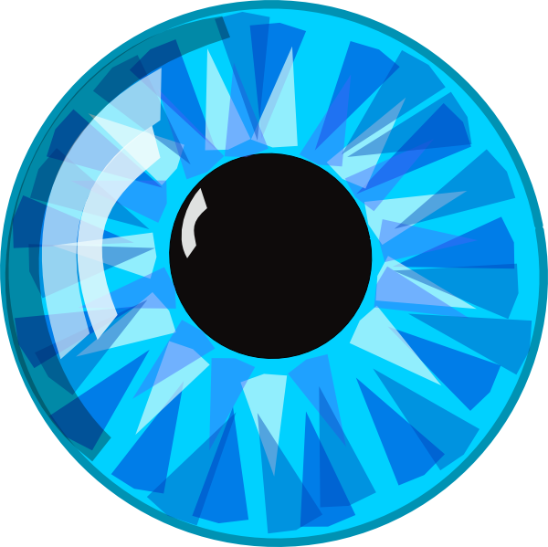 Free Blue Eyeball Clip Art