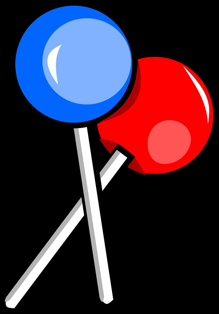 Free Blue u0026 Red Lollipops Clip Art