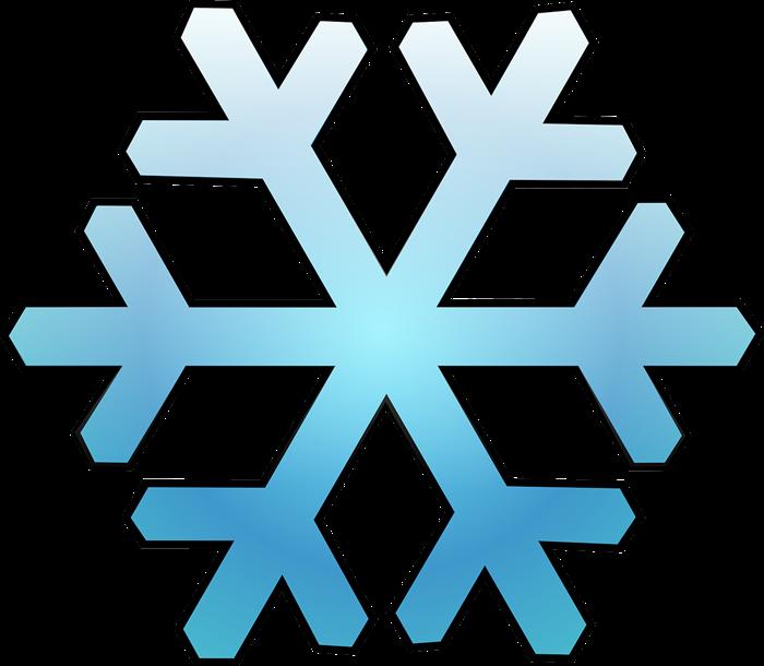 Free Blue Snowflake Clip Art-Free Blue Snowflake Clip Art-3