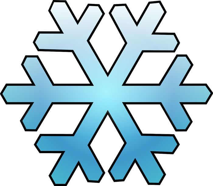 Free Blue Snowflake Clip Art - Clipart Of Snowflakes