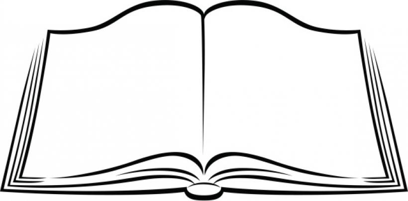 Картинка раскраска открытая книга