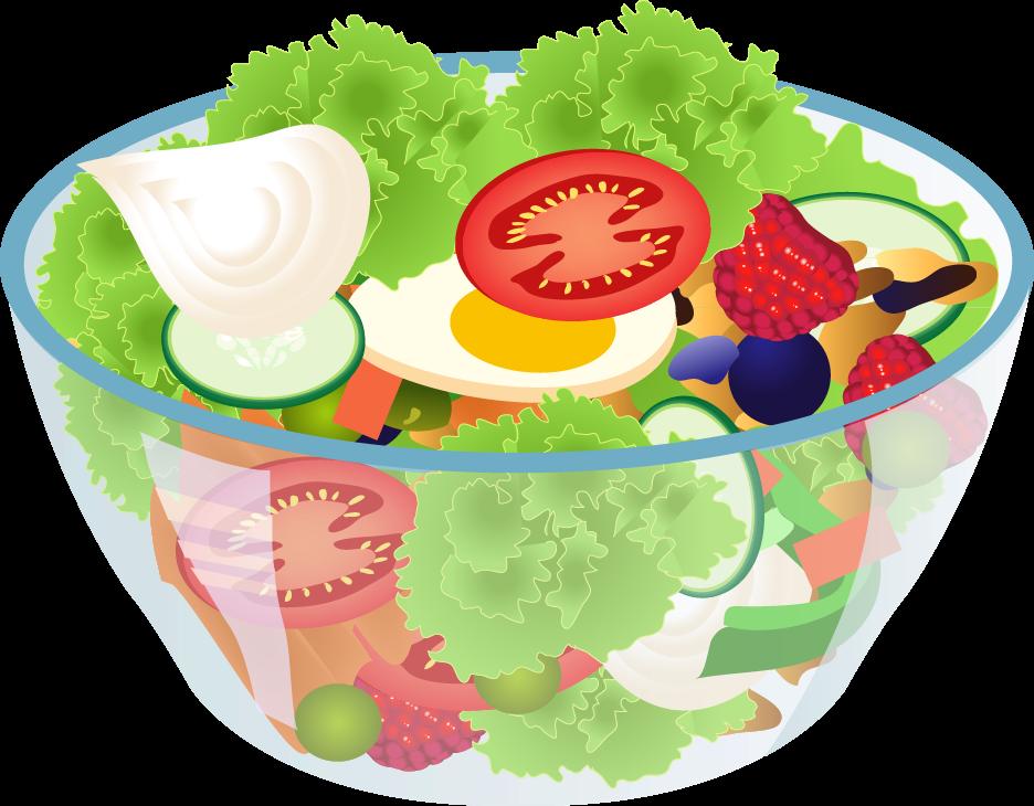 Free Bowl Of Salad Clip Art