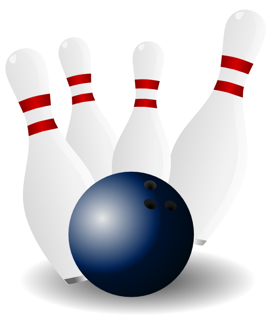 Free Bowling Pins u0026amp; Bowling Ball Clip Art