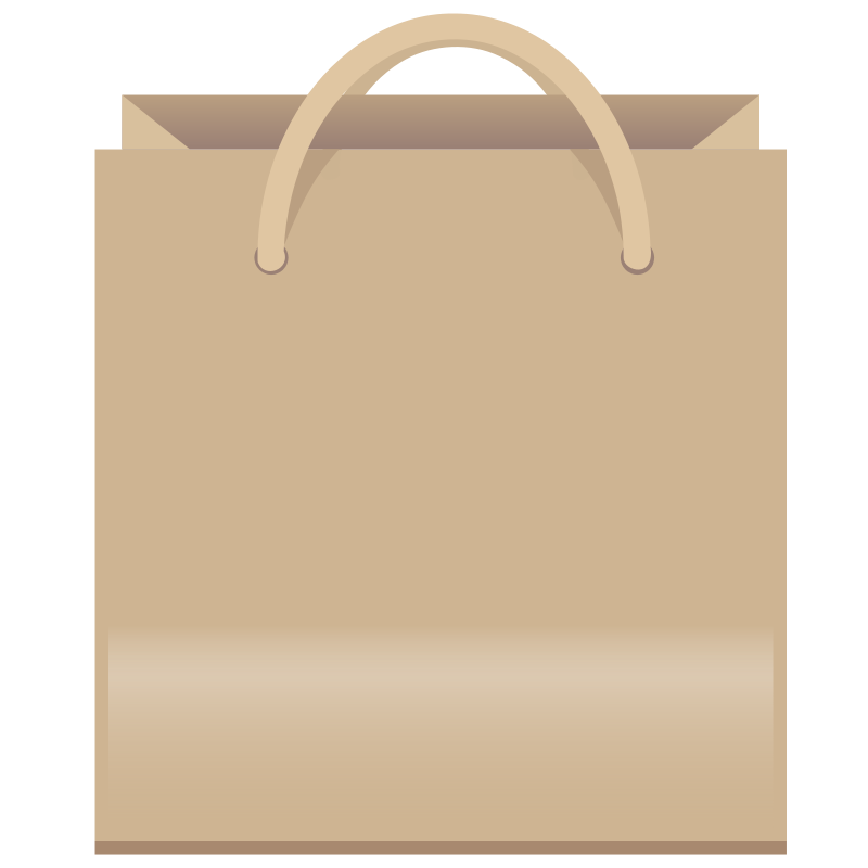 Free Brown Shopping Bag Clip Art