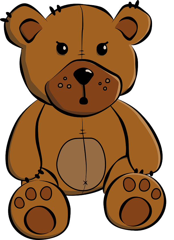 Free Brown Teddy Bear Clip Art