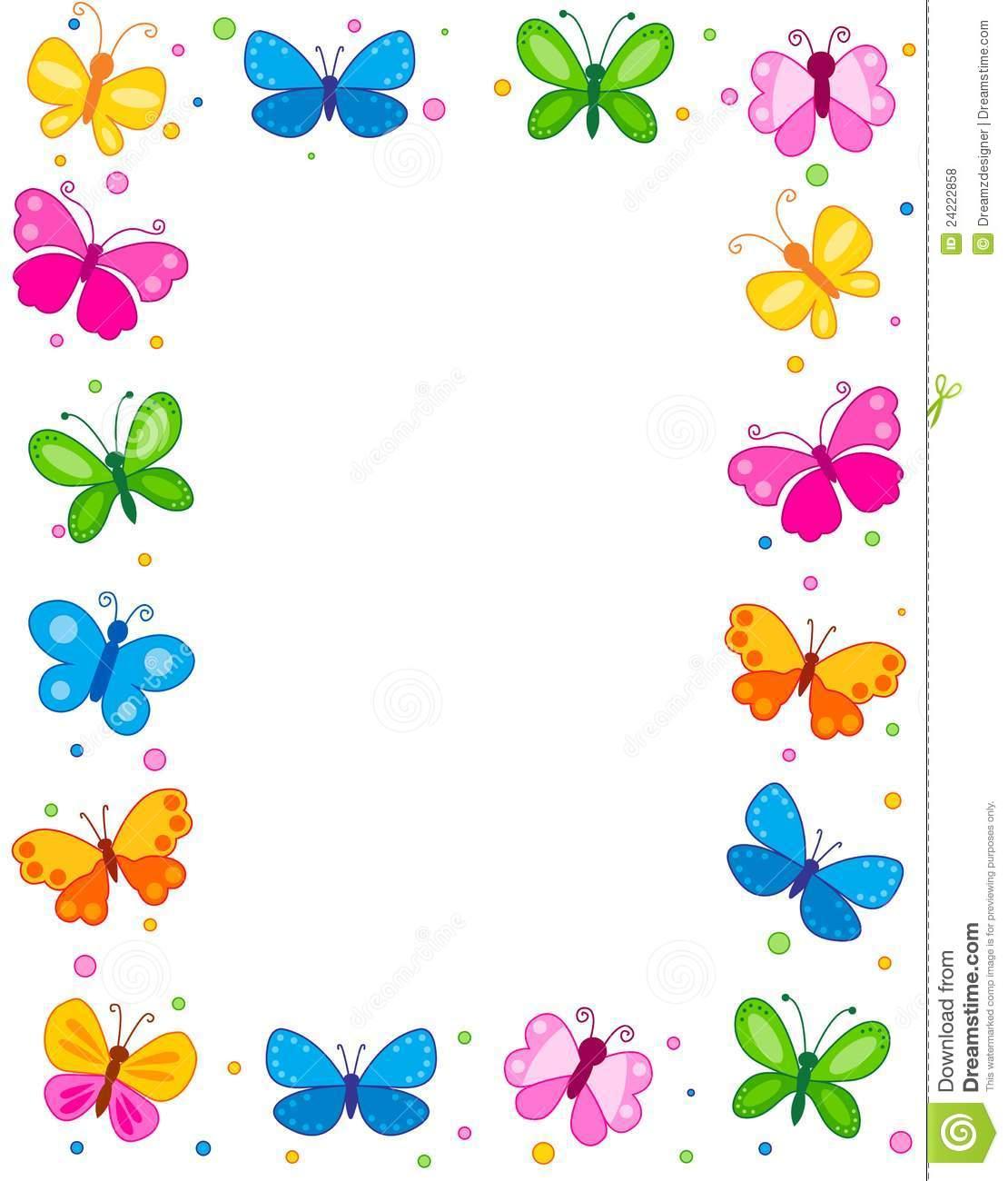 free butterfly borders