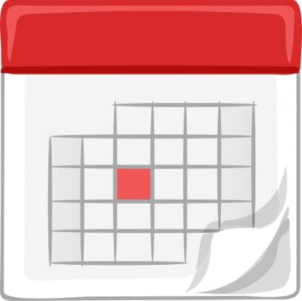 Free calendar clipart clip art .