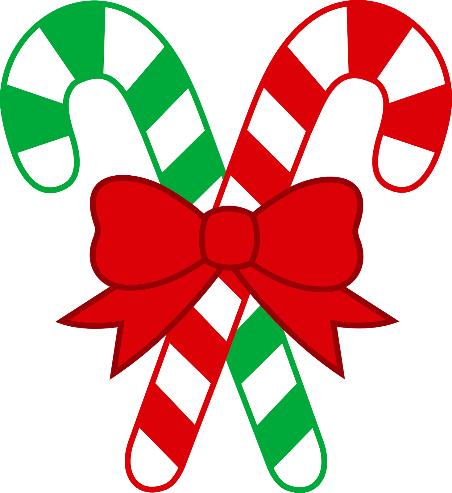 Christmas candy cane clip art
